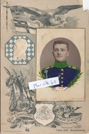 Foto CDV 2. Bayer. Jäger Bataillon Jägerbataillon Koloriert Bayern Deutscher Soldat Um 1910 - War, Military