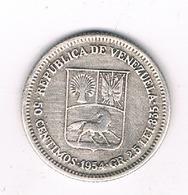 50 CENTIMOS  1954 VENEZUELA /7001/ - Venezuela