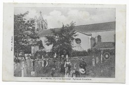 Revel (Tarn-et-Garonne) Près Négrepelisse Eglise Et Cimetière Phot. J. Desbans - France