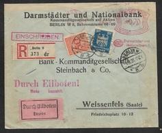 1925 - Dt.Reich MiF - Berlin Einschreiben Per Eilboten, Expres N. Weissenfels (Saale) - Briefe U. Dokumente