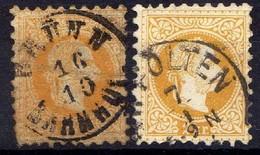 Österreich 1867 Mi 35 I + II, Gestempelt [170819XXVII] - Usados