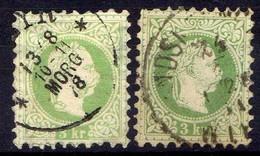 Österreich 1867 Mi 36 I + II, Gestempelt [170819XXVII] - Gebraucht