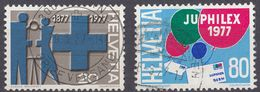 HELVETIA - SUISSE - SVIZZERA - 1977 - Lotto Di 2 Valori Usati: Yvert 1021 E 1023. - Usati