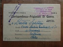 REGNO 1942 - Corrispondenza Da Prigioniero Di Guerra Proveniente Dal Sudafrica + Spese Postali - 1900-44 Vittorio Emanuele III