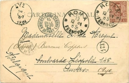 Belgique.  CP Roma > Antwerpen > Aye  1904 - Marcophilie