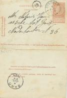 Belgique.  CL 9  Synghem > Gand    1894 - Marcophilie