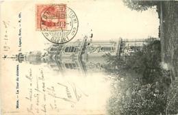 Belgique.  TP 74 CPI Mons (Station)/Départ Cachet à Pont  > Bihorel-lez-Rouen 1907 - Marcophilie