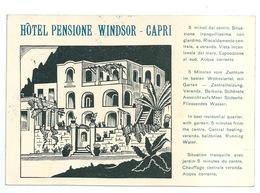 CAPRI - Hotel Pensione Windsor - Napoli