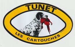 VP 1 :  AUTOCOLLANT : Chasse , Les  Cartouches ,  Chien -  Faisan - Stickers