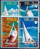 GUINEE EQUATORIALE - 1972 - 4 TP Oblitérés - KIEL 72 - XXème JEUX OLYMPIQUES - Äquatorial-Guinea