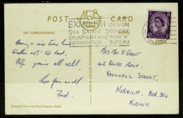 Ref 1322 - GB 1960's Postcard - Exmouth From Royal Beacon Hotel - Good Slogan Postmark - Devon - 1952-.... (Elizabeth II)