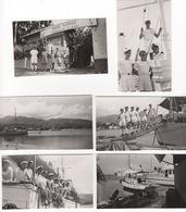 Lot De 6 Photos Anciennes : Marine Nationale à Papeete  Tahiti  ( Archives Cols Bleus ) , Navire   Lotus , VP , Zelee - Orte