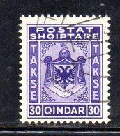 SS6063 - ALBANIA , Segnatasse  Yvert N. 32  Usato - Albania