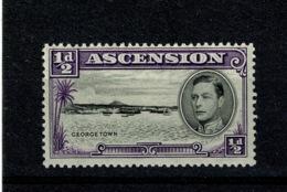 "Ref 1322 - Ascension Island 1938 - 1/2d SG 38ba - Elongated ""E"" Variety - Mint Stamp - Ascension"