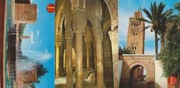 Marrakech, 3 Cartes Non Circulée. Maroc. - Marrakech