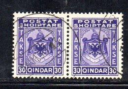 SS6062 - ALBANIA , Segnatasse  Yvert N. 32 :coppia  Usata - Albania