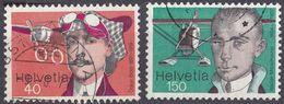 HELVETIA - SUISSE - SVIZZERA - 1977 - Lotto Di 2 Valori Usati: Yvert 1017 E 1020. - Usati