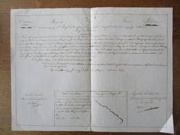 ROYAUME DE FRANCE 16 AOUT 1840 6me REGt DE DRAGONS SIEUR HELLE LOUIS BRIGADIER NATIF DE LOUVIGNIES CONGE DE REFORME - Documents