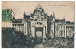 CPA - CAMBODGE - 141 - Souvenir Des Ruines D' ANGKOR - Cambodja