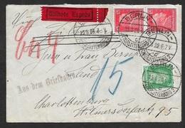 1928 - Berlin MiF Orts-Eilbotenbrief - Expres - Stempel AUS DEM BRIEFKASTEN - Selten - Briefe U. Dokumente