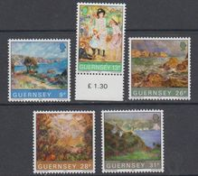 Guernsey 1983 Visit Of Renoir 5v ** Mnh (44227B) - Guernsey