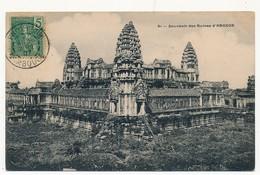 CPA - CAMBODGE - 91 - Souvenir Des Ruines D' ANGKOR - Cambodja