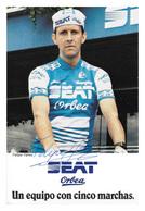 CARTE CYCLISME FELIPE YAÑEZ SIGNEE TEAM SEAT 1985 - Cyclisme