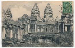 CPA - CAMBODGE - 92 - Souvenir Des Ruines D' ANGKOR - Cambodja