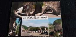 Cp 26 Drome LA CHAPELLE EN VERCORS Place Fontaine Tunnel Route De Montagne  ( Habitation Commerces  ) - France
