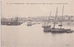 Bw - Cpa LA TURBALLE - Vue Générale Du Port Et Quai à Marée Haute - La Turballe