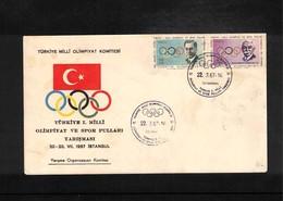 Turkey 1967 Turkish Olympic Comittee FDC - Olympische Spiele