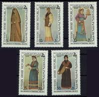 Syrien Syria 1973 - Trachten  Folk Costume - MiNr 1243-1247 - Kostüme