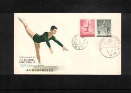 Japan 1964 Handball + Gymnastics FDC - Handball