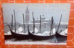 VENEZIA S. Giorgio Innevata - Neve CARTOLINA  Viaggiata 1984 - Venezia