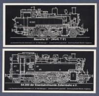 2 Aufkleber / Dampflokomotiven 91 2007 Und 64 289 - Eisenbahnfreunde Zollernbahn E.V. - Stickers