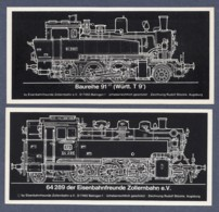2 Aufkleber / Dampflokomotiven 91 2007 Und 64 289 - Eisenbahnfreunde Zollernbahn E.V. - Aufkleber