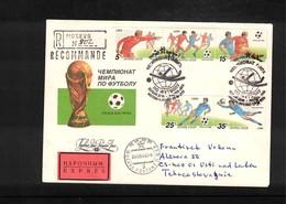Russia SSSR 1990 World Cup Italy Interesting Registered Letter - 1990 – Italien