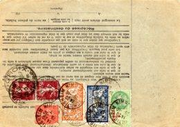 Bulletin D'expédition  VD 450 F  Timbres-poste 7 F 90  + Timbre Taxe 1 F 26/10/27 - Elsass-Lothringen