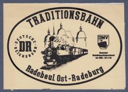 Aufkleber / DR Traditionsbahn Radebeul Ost-Radeburg - (DMV) Deutscher Modelleisenbahnverband Der DDR - Aufkleber