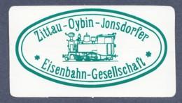 Aufkleber / Zittau-Oybin-Jonsdorf - Eisenbahngesellschaft - Stickers