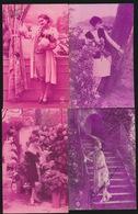 4 FOTOKAARTEN MET VROUWEN - Femmes
