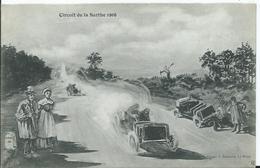 CIRCUIT DE LA SARTHE 1906 - (HUMOUR) édition Bouveret - La Panne - Le Mans