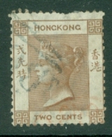 Hong Kong: 1863/71   QV    SG8a     2c   Brown     Used - Gebraucht