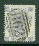 Hong Kong: 1863/71   QV    SG10     6c   Lilac    Used - Hong Kong (...-1997)