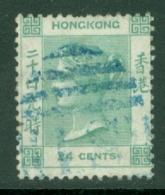 Hong Kong: 1863/71   QV    SG14     24c   Green    Used - Hong Kong (...-1997)