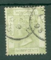 Hong Kong: 1882/96   QV     SG39     30c   Yellowish Green   Used - Hong Kong (...-1997)