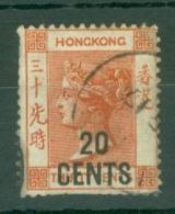 Hong Kong: 1885   QV - Surcharge    SG40     20c On 30c       Used - Hong Kong (...-1997)