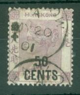 Hong Kong: 1891   QV - Surcharge    SG49     50c On 48c   Dull Purple     Used - Hong Kong (...-1997)