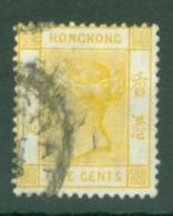 Hong Kong: 1900/01   QV     SG58     5c   Yellow   Used - Hong Kong (...-1997)