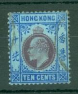 Hong Kong: 1904/06   Edward    SG81     10c      Used - Hong Kong (...-1997)